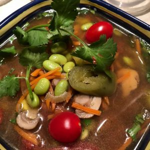 Miso Ginger Broth with Vegetables