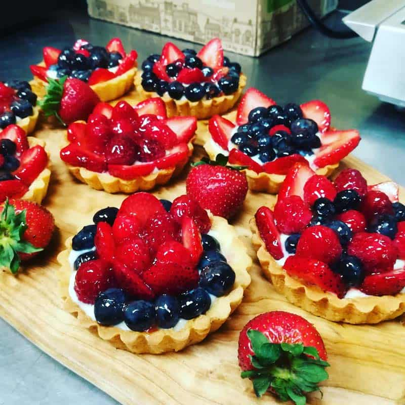 French fruit tarts
